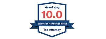 Sherriann Hicks has a 10.0 Top Attorney rating on Avvo